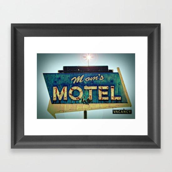 Mom's Motel Framed Art Print