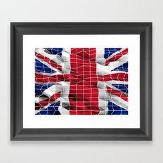 Great Britain flag 3d graphic Framed Art Print