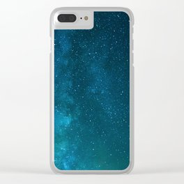 Milky Way Starry Night Photography Clear iPhone Case