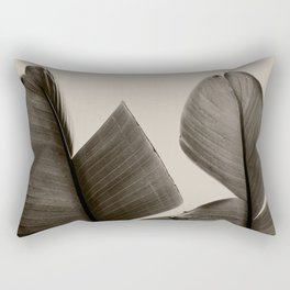 Banana Tree Leaves in Sepia Rectangular Pillow