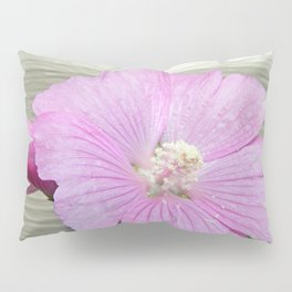 Pink Musk Mallow Pollen Overflow Pillow Sham