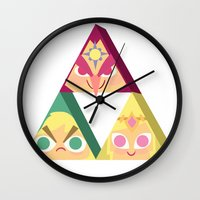 triforce Wall Clocks featuring triforce! by Spencer Duffy