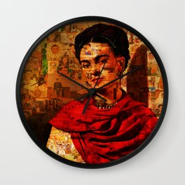 Kahlo Collage Wall Clock