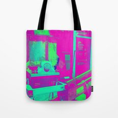 Industrial Abstract Purple Tote Bag