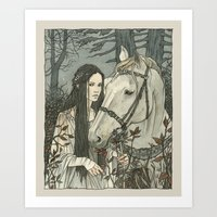 nan lawson Art Prints featuring enmeshed in Nan Elmoth by Liga Klavina