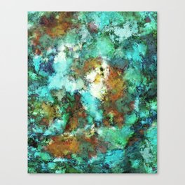 Turquoise terrain Canvas Print
