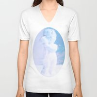 faith V-neck T-shirts featuring Faith by Rose Etiennette