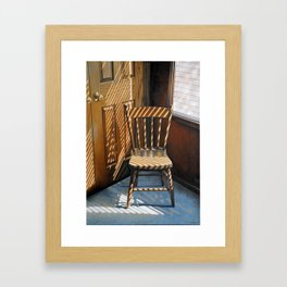 Chair In Light Framed Art Print