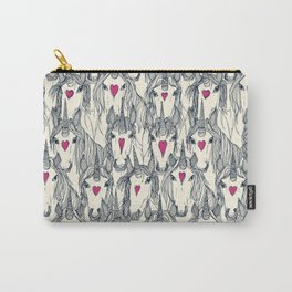 unicorn love indigo pink pearl Carry-All Pouch