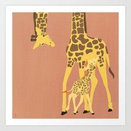 We, the mammals - Giraffe Art Print