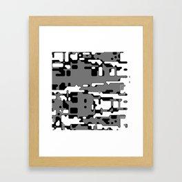 jitter, b&w 8 Framed Art Print