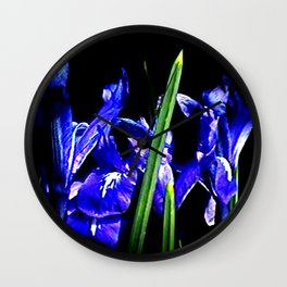 Among the Ladies Artist Series jGibney Irises Wall Clock