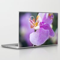 orchid Laptop & iPad Skins featuring Orchid by Don Hooper