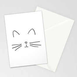 Minimalist Cat Outline Stationery Cards