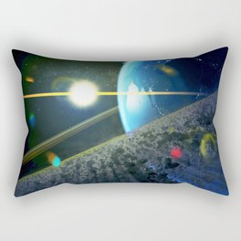 until the moon is no more. Asteroid Field on Earth Rectangular Pillow