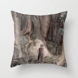 Dante in the Forest Throw Pillow
