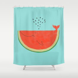 Don't let the seed stop you from enjoying the watermelon Shower Curtain