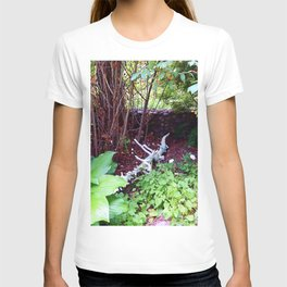 Painted Log in Garden T-shirt