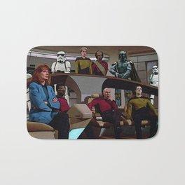 Boba Fett vs Captain Picard Bath Mat