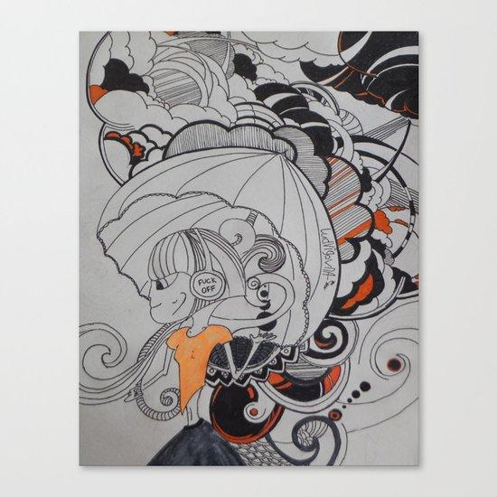 Rain falling Canvas Print