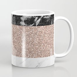 Marble stripes - Deauville rose gold Coffee Mug