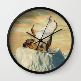 Greetings From The Arctic Wall Clock