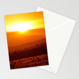 Golden African Morning Stationery Cards