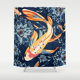 The Lotus Pond Shower Curtain