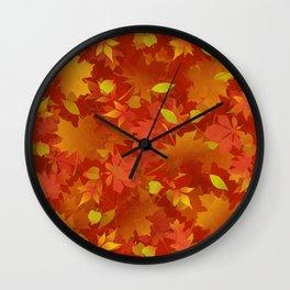 Autumn Leaves Carpet Wall Clock