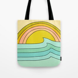 daydreams glassy swells and sunrise radiate by surfy birdy Tote Bag