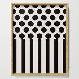 Geometric pattern - Spots and stripes Serving Tray