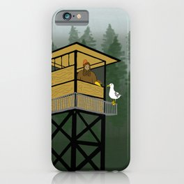 Mr Big & Gerry the Seagull from Flock of Gerrys Gerry Loves Seagulls by Seasons Kaz Sparks iPhone Case
