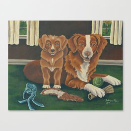 2 Tollers Canvas Print