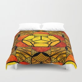 Sacred Geometry for your daily life -  Platonic Solids - ETHER COLOR Duvet Cover