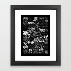 Robu.Co Type Lettering Framed Art Print