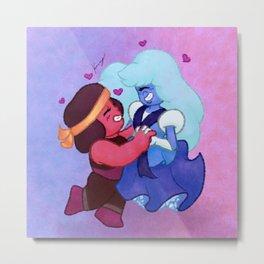 Chibi Ruby and Sapphire - SU Fanart Metal Print
