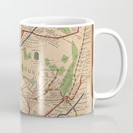 New York City Metro Subway System Map 1954 Coffee Mug