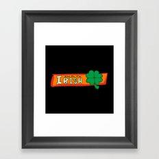 Kiss Me I'm Irish Framed Art Print