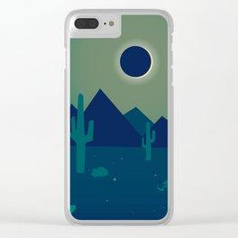 Desert Eclipse Clear iPhone Case