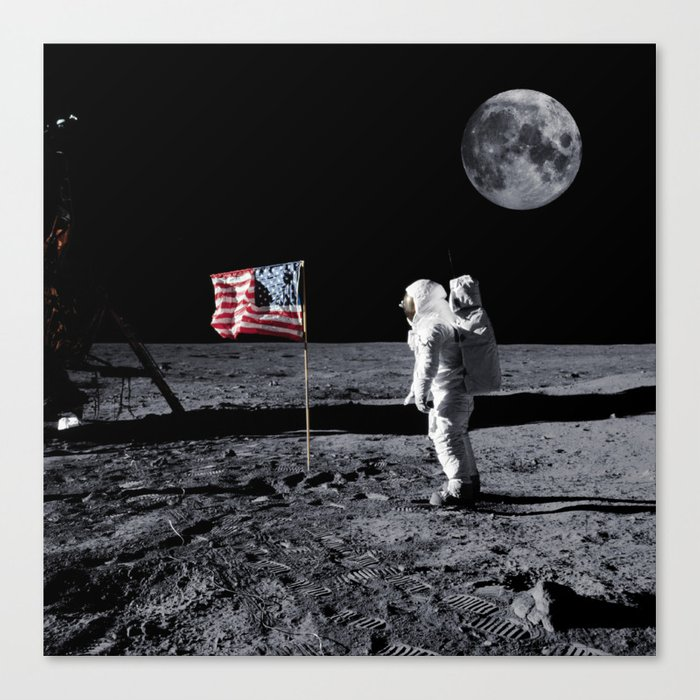 The Great Conspiracy: The Moon Is a Lie Canvas Print