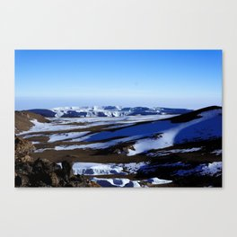 The summit of Africa. Canvas Print