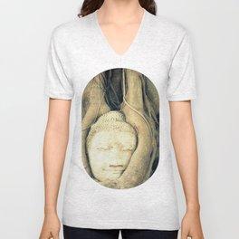 Nature & Buddha Unisex V-Neck
