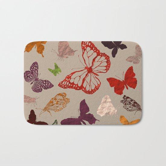 Autumn butterfly neutral Bath Mat