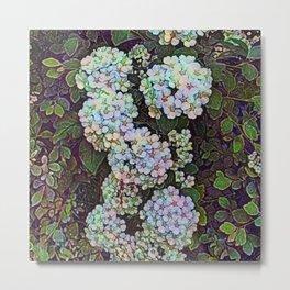 Victorian Wildflower Hedge Metal Print