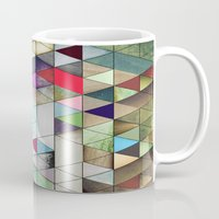 triangles Mugs featuring Triangles  by Jason Michael
