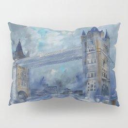 London bridge 110x160 cm Large impressionism acrylic painting on unstretched canvas S049 art by arti Pillow Sham