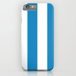 Sea Breeze Large Blue and White Vertical Stripes iPhone Case