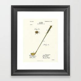 Golf Club Patent - Circa 1903 Framed Art Print