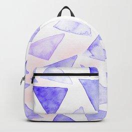 Purple Geometrics Backpack