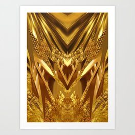 DRAGON'S GOLD Art Print